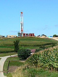 Rig in the Marcellus Shale