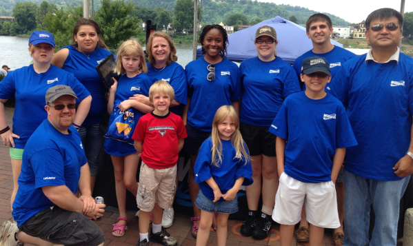Sunday's teams braved storm clouds to work the Williams table.