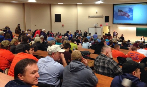 About 475 people participated in the NY DEC public meeting in Oneonta, N.Y.