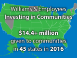 For Williams and employees, 2016 was a year of giving back
