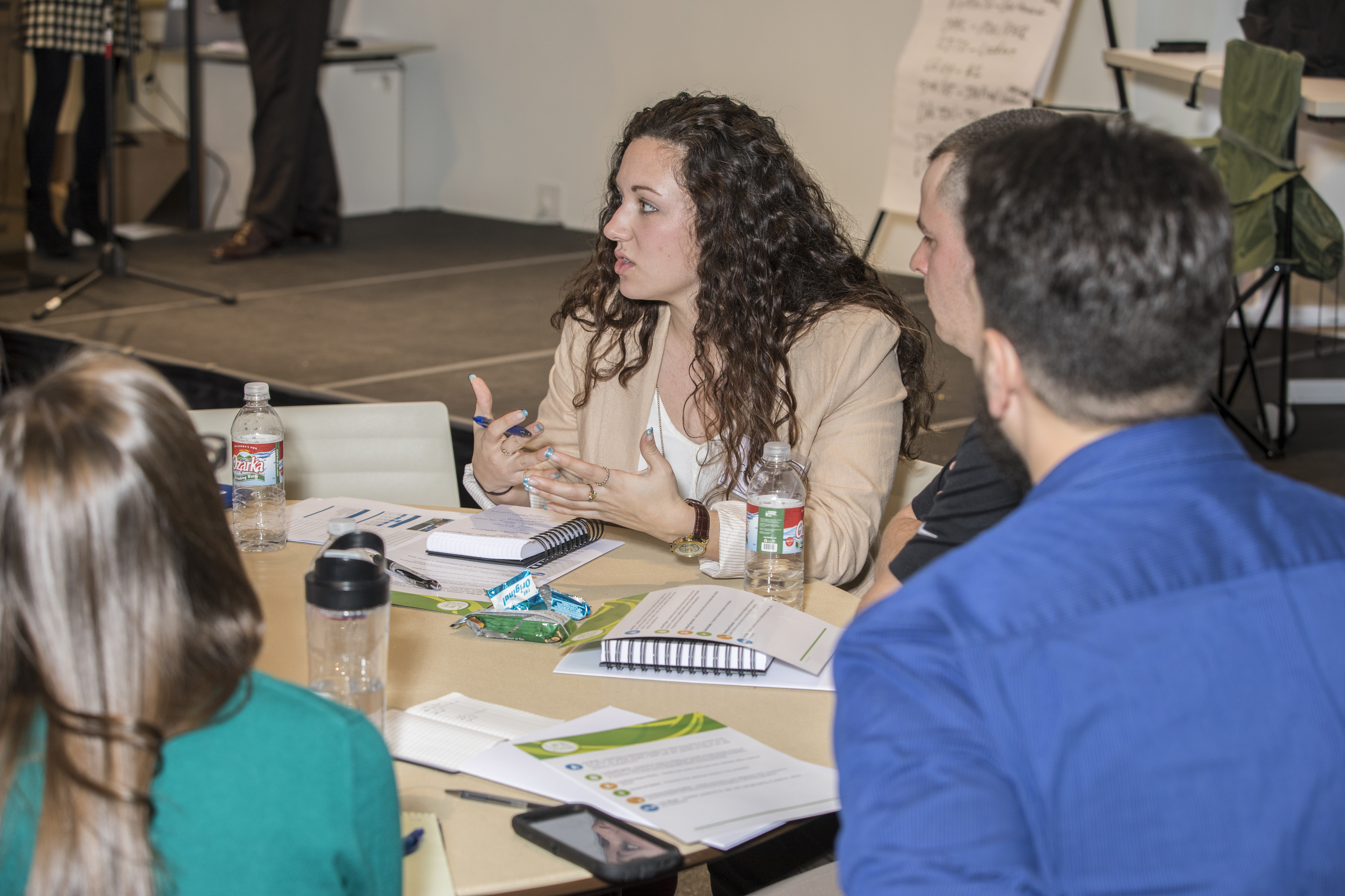 Early career program employees gather for leadership
