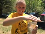 Students release trout in West Virginia