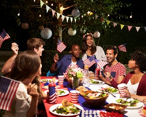 Friends Celebrating 4th Of July Holiday