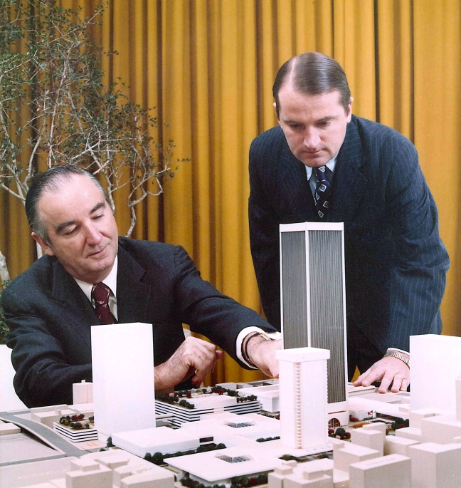 John Williams with tower model